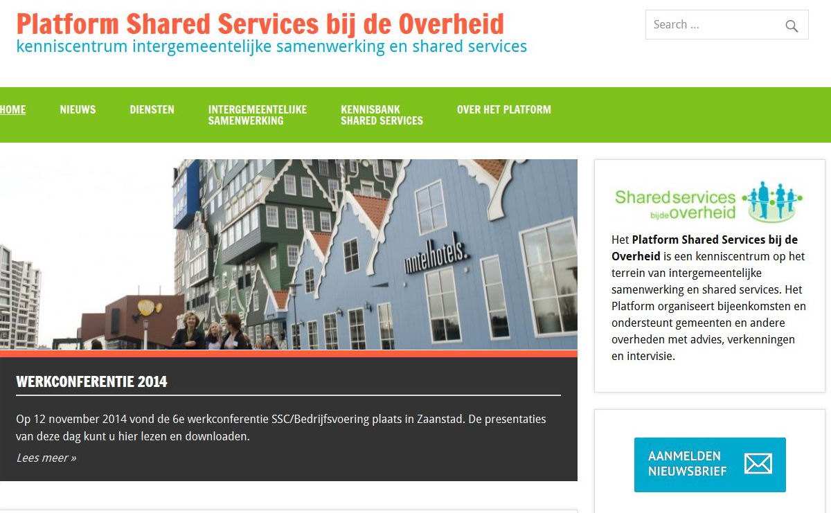 Platform Shared Services bij de Overheid' - www_sharedservicesbijdeoverheid_nl