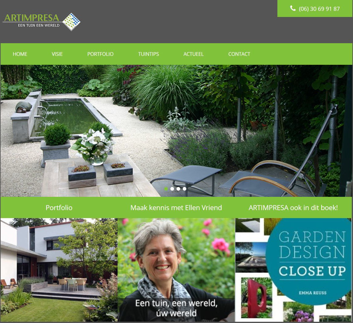ARTIMPRESA studio voor tuinvormgeving I Eindhoven' - www_artimpresa_nl