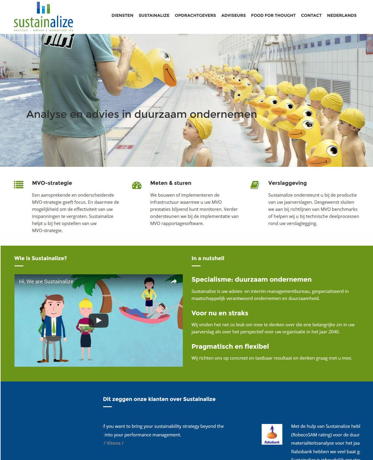 sustainalize website