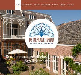 homepage Hotel de Blauwe Pauw