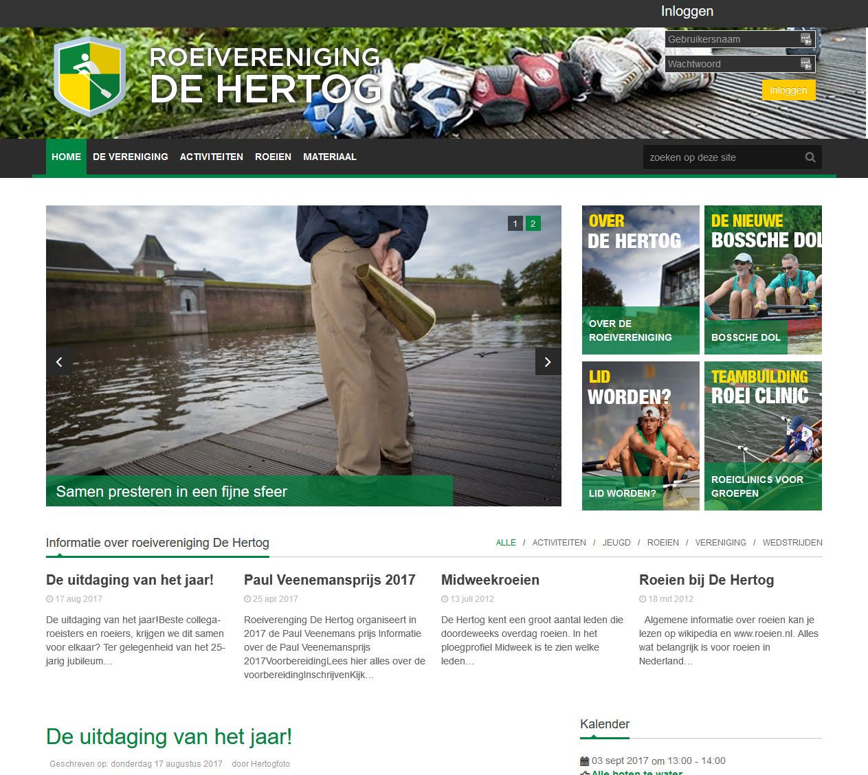 Roeivereniging De Hertog screenshot