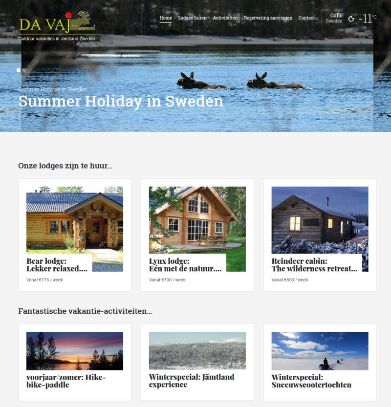Vakantiewoning in Zweden-Davaj Trekking Outdoor vakanties