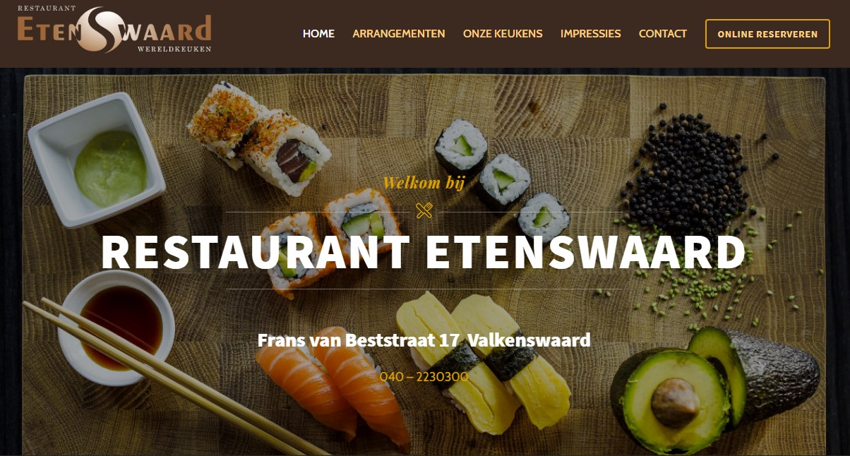 Restaurant etenswaard website