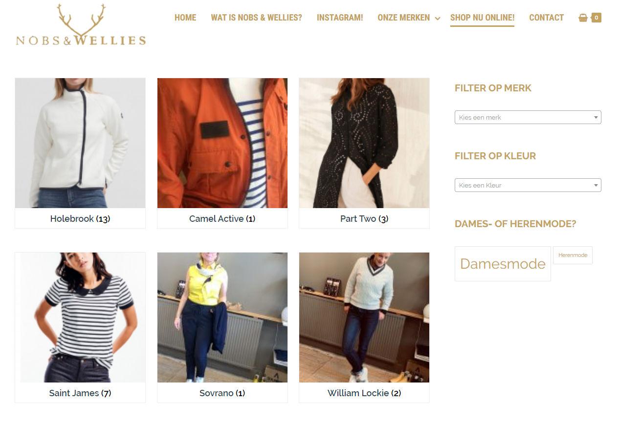 Webshop voor kledingwinkel