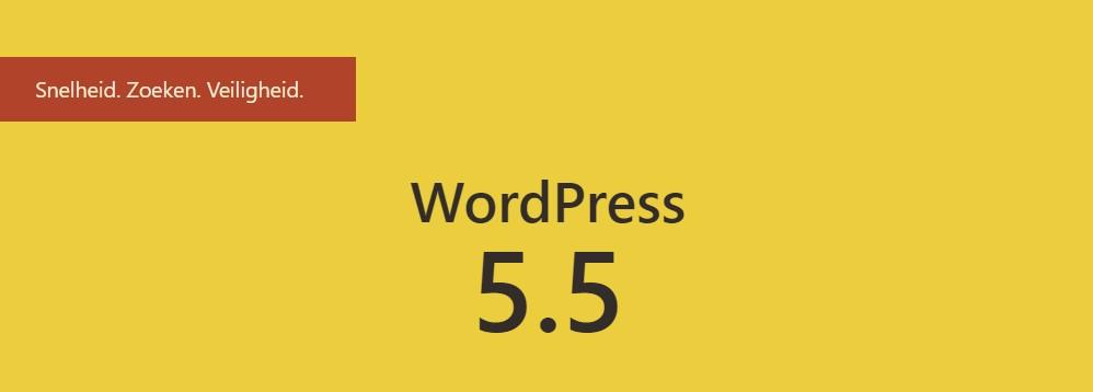 Wordpress versie 5.5